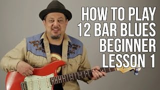 Video How to Play 12 Bar Blues for Absolute Super Beginner Guitar Lesson Blues Guitar Lessons MP3, 3GP, MP4, WEBM, AVI, FLV Juni 2018