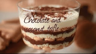 Chocolate coconut trifle