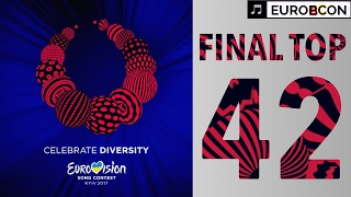 Video FINAL TOP 42 | EUROVISION SONG CONTEST 2017 MP3, 3GP, MP4, WEBM, AVI, FLV Juli 2017