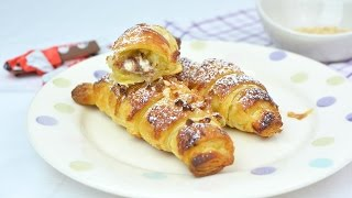 Learn how to make delicious puff pastry croissants filled with Kinder Chocolate bars. This chocolate croissant recipe is perfect for breakfast or afternoon snack.▼ INGREDIENTS LIST:- 1 sheet of puff pastry- 4 Kinder Chocolate bars- 1 egg, beaten, for brushing- Powdered sugar, for dusting- Chopped almonds (optional)⇨ Subscribe to Very Easy Recipes! ⇦http://www.youtube.com/subscription_center?add_user=VeryEasyRecipes⇨ Follow us on Social Networks! ⇦- Twitter: http://twitter.com/VeryEasyRecipes- Facebook: http://facebook.com/VeryEasyRecipes- Instagram: http://instagram.com/VeryEasyRecipes- Google+: http://plus.google.com/+VeryEasyRecipesTweet and tag us in your recipe attempts!P.S. We are not native speakers of English, so we apologize if there are any incomprehensible words, typos or grammatical errors in this video. We hope you enjoy the recipe!