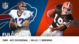 Nonton 1989 AFC Divisional Playoff Game: Buffalo Bills vs. Cleveland Browns | NFL Full Game Film Subtitle Indonesia Streaming Movie Download