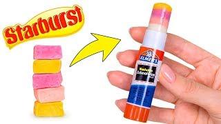 Pegadinhas com material escolar  lápis de cera e papel comestíveis!