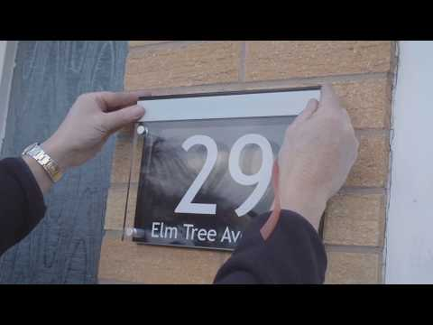 LED House Number Option A Fitting