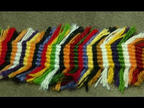 ► Friendship Bracelet Tutorial 11 - Beginner - Scrap String Bracelet [ The Rug ]