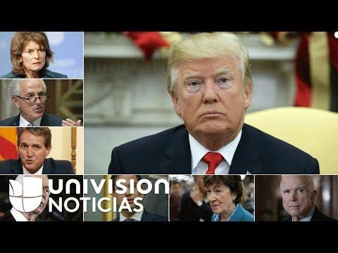 Los senadores republicanos que tienen en el limbo la reforma fiscal de Trump