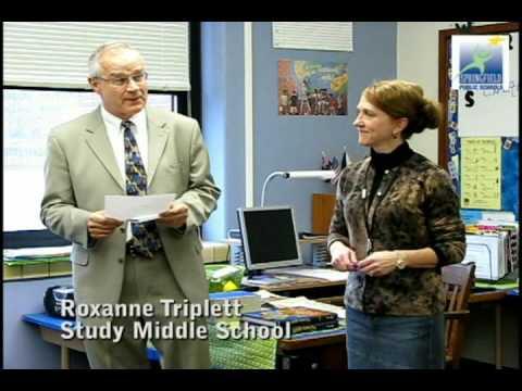 SPS Starcatcher recipient Study teacher Roxanne Triplett