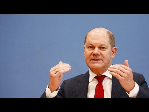 Bundesfinanzminister Olaf Scholz stellt Möglichkeiten ...
