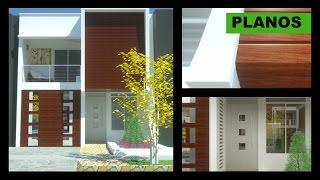 Planos Casa moderna 2 pisos 6m x 12m Villa del Sol