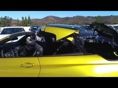 2015 BMW M4 CONVERTIBLE AUSTIN YELLOW BLACK 19″ M Wheel Car Review