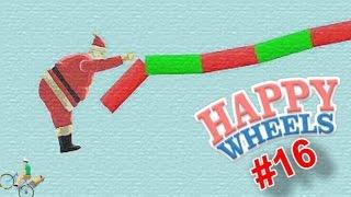 SANTA ROPE SWING!   Happy Wheels - Part 16