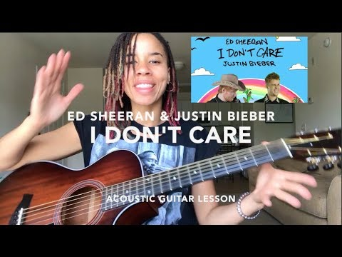 Justin Bieber/Ed Sheeran [I Don't Care] ACOUSTIC Guitar Lesson