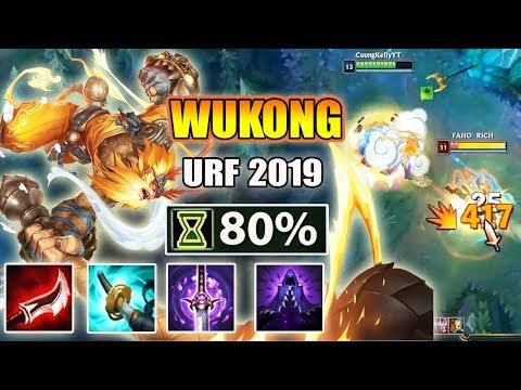 WUKONG URF 2019 - GIẾT NGƯỜI CHỈ 0.1S CHƠI LÀ NGHIỆN - AR URF PBE - Thời lượng: 17:28.
