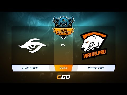 Team Secret vs Virtus.Pro, Game 5, DOTA Summit 7 LAN-Final, Day 5