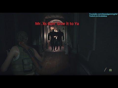 《惡靈古堡 2 重製版》中遭遇雙暴君的影片...