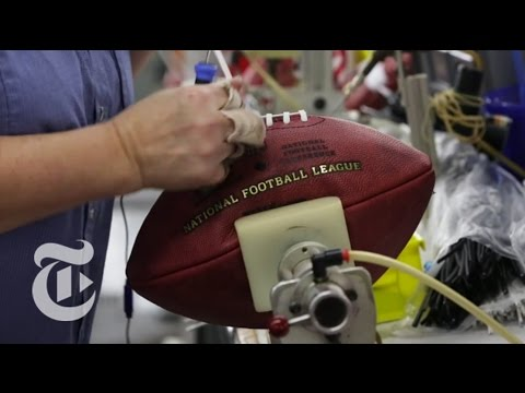 Here s a NY Times video that shows you the inside of a Wilson Football