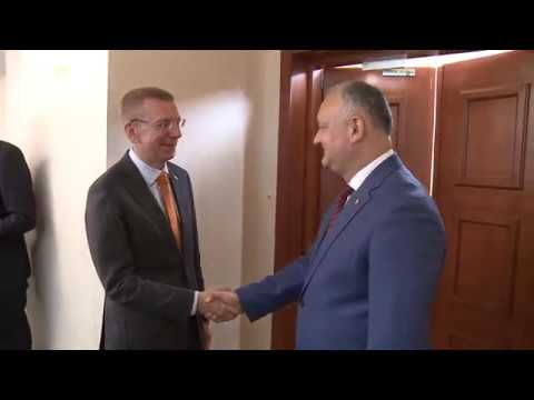 The President of the Republic of Moldova had a working meeting with the Minister of the Foreign Affairs of the Republic of Latvia