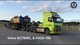 Video Loading a Volvo EC750EL on a Volvo FH16-700 with 5-axles VM trailer MP3, 3GP, MP4, WEBM, AVI, FLV Desember 2018