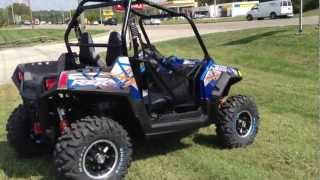8. 2013 Polaris Ranger RZR S 800 LE in Blue Fire and Orange at Tommy's MotorSports