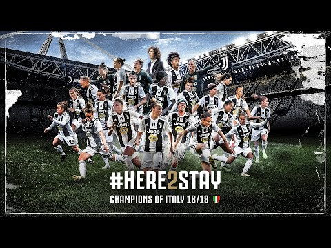#HERE2STAY: Juventus Women are Champions of Italy for the second time!!