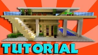 Minecraft: How To Build A Big Modern House Tutorial (EASY, STYLISH, COMPACT Minecraft House 1.11