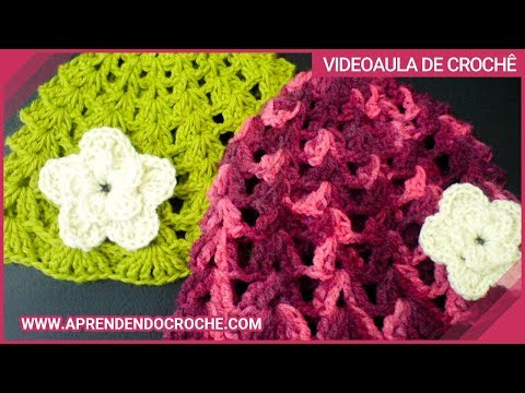 Touca Croche Menininha - 1º Parte - Aprendendo Crochê