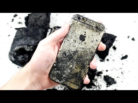 WATCH: Will the iPhone Survice Sulfuric Acid Black Snake Reaction?