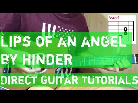 Lips Of An Angel - Hinder style chord TUTORIAL | XalOne