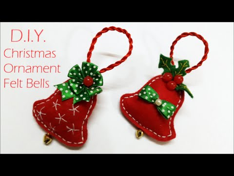 fai da te - campane natalizie in feltro