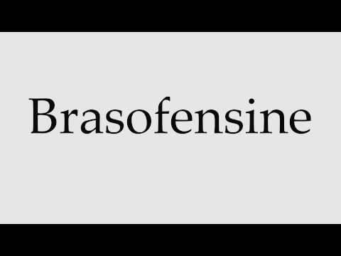 How to Pronounce Brasofensine
