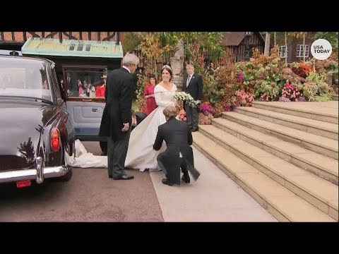 Celebrities, royal guests arrive for Princess Eugenie's royal wedding
