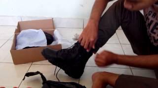 Video Delta Force Condura Tactical Boots Unboxing 😂 MP3, 3GP, MP4, WEBM, AVI, FLV September 2018