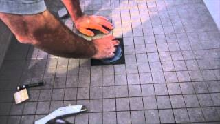 How to install ceramic tile on a shower floor.