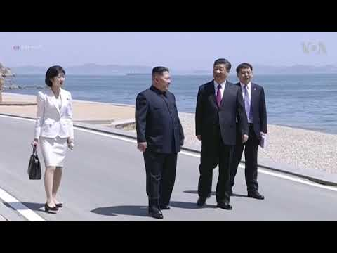 North Korea leader Kim Jong Un Meets China's Xi Jinping
