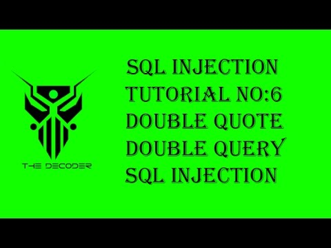 SQL injection video course   Double Quote Double Query  2017