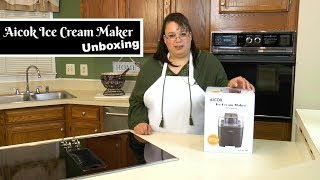 "Join Amy as she unboxes an Aicok Ice Cream Maker. This ice cream maker is really affordable and easy to use. Just freeze the bowl and add your favorite ice cream custard! You can make your favorite flavors! This is great because you can made homemade ice cream without any unwanted ingredients that you will find in commercial ice cream. How to Make French Vanilla Ice Cream:https://youtu.be/DFUfS3hWT7AAicok Ice Cream Maker:B01M2A9GM9 Amy Learns to Cook is all about learning to make simple, tasty food from fresh ingredients.  One year ago, I made a commitment to stop eating processed convenience foods.  I decided to learn to cook ""real"" food. Join me!  Let's learn to cook together! Enjoy! Please share! Please SUBSCRIBE to my channel, LIKE, and leave a COMMENT.Please visit my website: www.amylearnstocook.comAny links in this description, including Amazon, are affiliate links.I received this product free of charge in exchange for my honest review."
