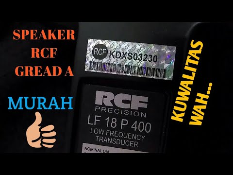 UNBOXING | SPEAKER RCF LF18 P400 | GREAD A