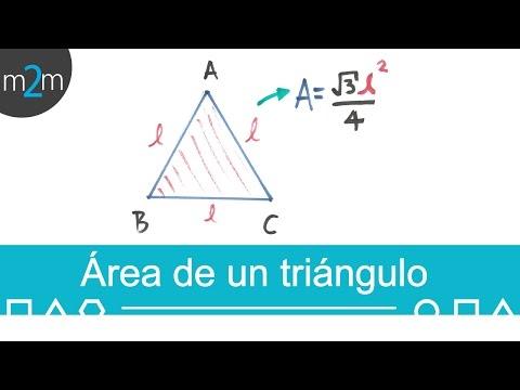 Holen Sie sich das Fläche eines Dreiecks in der Regel aufgrund ihrer Seite