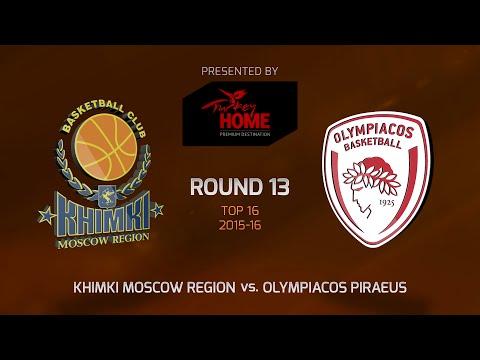 Highlights: Top 16, Round 13, Khimki Moscow Region 98-66 Olympiacos Piraeus