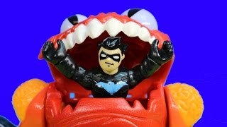 Imaginext Nightwing Saves Thor From Alien Planet Nightwing Brings Marvel DC Thor To Batman Batcave
