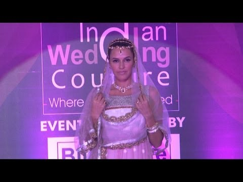 Neha Dhupia On Ramp For Indian Wedding Couture.