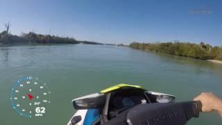 3. Two people on Seadoo Wake Pro 230  64 mph