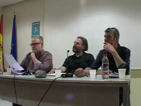 Elías Moro y yo leemos nuestros inéditos en la Semana del Aforismo de Sevilla acompañados de José Luis Trullo