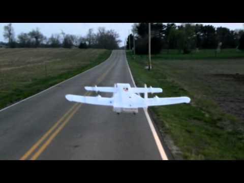 VTOL Canard Tilting Quad Rotor Home Made RC Plane