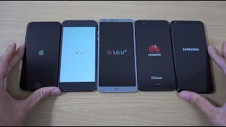Video Samsung Galaxy S8 vs LG G6 vs Huawei P10 vs Google Pixel vs iPhone 7 - Speed Comparison! MP3, 3GP, MP4, WEBM, AVI, FLV Mei 2019