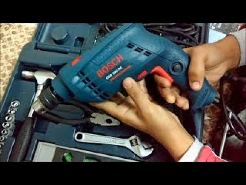 {Hindi}Bosch GSB 500 RE Kit Power And Hand Tool Kit Quick Unboxing And How To Use?