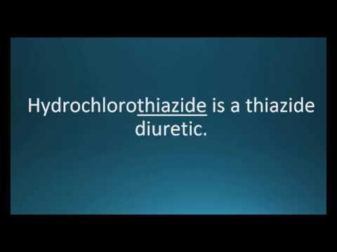 How to pronounce hydrochlorothiazide (Hydrodiuril) (Memorizing Pharmacology Video Flashcard)