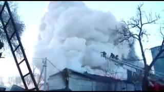 Пожар на складе канцтоваров и фейерверков в Благовещенске