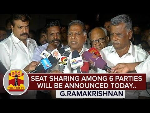 Seat-Sharing-information-among-6-parties-will-be-announced-today--G-Ramakrishnan