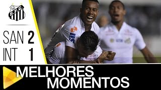 LARGAMOS NA FRENTE! O Santos venceu o Inter, por 2 a 1, na Vila, e largou na frente nas quartas da Copa do Brasil! Confira os melhores momentos da partida! ...
