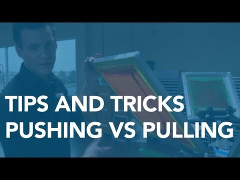 How to Screen Print - Tips and Tricks Pushing vs Pulling a Squeegee